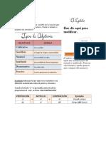 Examen Castellano Adjetivos Articulos Acentuacion Diptongo Hiato Triptongo La Silaba Etc
