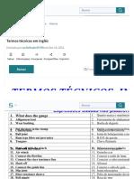 Termos Técnicos Em Inglês _ Natureza _ Engenharia