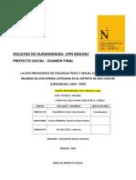 Examen Final Proyecto Social