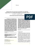Estimación de Las Presiones de Llenado de VI EC Doopler Px Critico