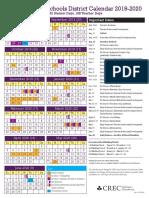 2019-2020 crec magnet school district calendar