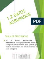 1.2 Datos Agrupados