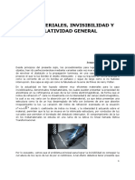 Metamateriales, Invisibilidad y Relatividad General
