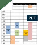 Class Schedule - 2nd Sem . 2018-2019