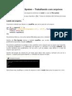 NodeJS – File System – Trabalhando ComArquivos