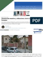 2015-03-21 Denuncian Masivo y Silencio Cierre de Hogares Del SENAME