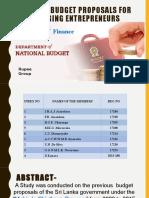 Budget Assignment Ppt