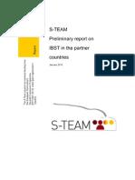 S-TEAM Preliminary Report