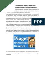 Críticas a La Epistemología Genética de Jean Piaget - Copia