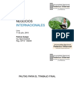 Pautas Para Trabajo - Negocios Internacionales 2019
