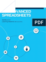 ICDL Advanced Spreadsheets 2.0
