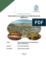 Peru Frente a La Caida de Los Precios de Los Minerales