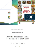 Receitas da culinária alemã do município de São Carlos Epagri 2015