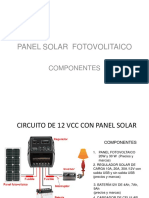 circuito de panel solar fotovoltaico