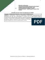 [DC,SG] Segurança Do Trabalho (Concomitante) 2009 15 Empreendedorismo e Relações Interpessoais
