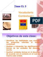 Clase CL 3 - Vocabulario Contextual I