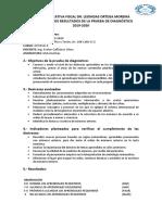 Modelo de Informe Prueba de diagnostico Matemáticas