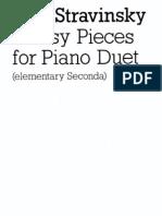 3 Easy Pieces for Piano Duet (4 Manos)Stravinsky
