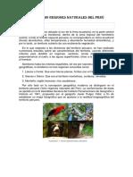 ocho ecorregiones del perú