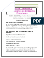 Material de Productos Financieros(1)