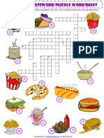 Fast Food Crossword