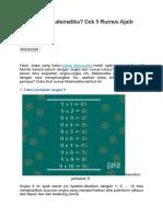 Ingin Pintar Matematika