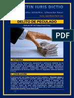 Boletín Iuris Dictio 2019-i Peculado - Autor José María Pacori Cari