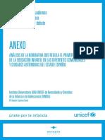 UNICEF. Anexo. Análisis de Normativa - Primer Ciclo - Educación Infantil