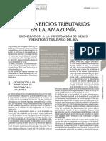 Los Beneficios Tributarios en La Amazonia