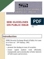 SEBI Guidelines for Public Issue