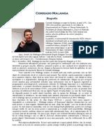Corrado Malanga Biografie RO