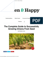 The Complete Guide to Successfully Growing Onions From Seed - Garden and Happy