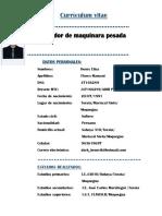 CV - Cargador Frontal - Henry Flores