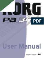 Manual de utilizare Korg PA 300