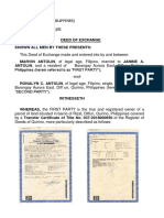 deed of exchanged