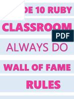 For Classroom Rules