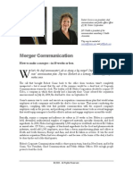 Merger Communication