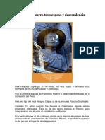 Francisco Pizarro Tuvo Esposa y Descendencia Inca