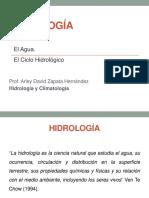 1. Introducción Hidrología y Climatología - Ciclo Hidrológico+Balance Hídrico (1)