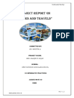 Tours and Travells Project 12