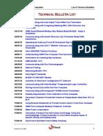 Technical Bulletins List