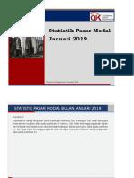 Statistik Pasar Modal Januari 2019