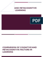 Cognitive and Metacognitive Factors in Learning
