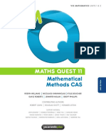 VCE Maths Methods CAS Units 1 2 Text Book