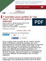 7 activités pour quitter la rat race et le salariat grâce à internet - Objectif Eco, anticiper pour s'enrichir