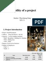 Phan Quang Dung - Feasibility Study