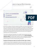 How to Use Automation to Improve Office Productivity