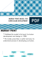Murray Print Model for Curriculum Develo