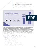 Why Every Facility Manager Needs a Visitor Management Tool
