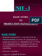 Production Management Unit 1